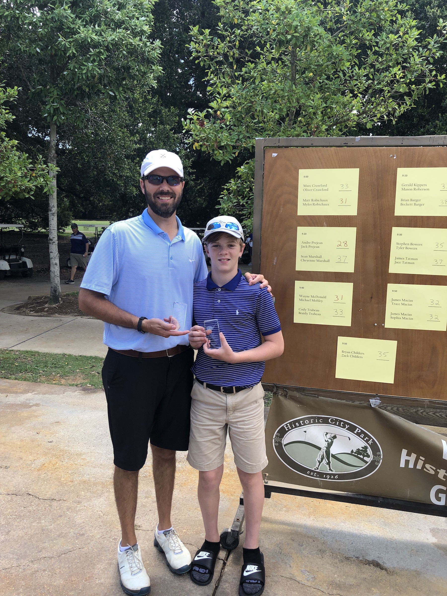 2019 Parent/Child 12 & under – Tournament Results